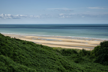 beach seen from the coast