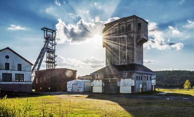 Saarland - Hammerkopfturm der Grube Camphausen in Fischbach