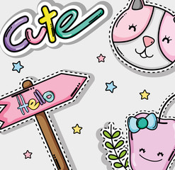 Cute and lovely cartoons