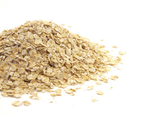 Oats on a White Background Wall mural
