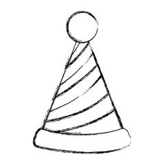grunge party hat lines decoration style
