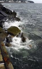 Die Mole in Sassnitz auf der Insel Rügen