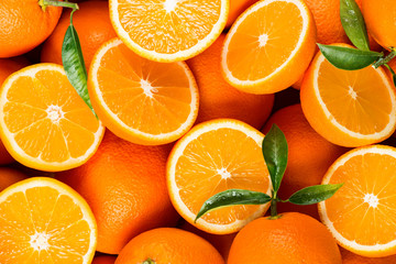 Poster de jardin Fruits slices of citrus fruits - oranges