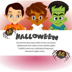 halloween template cute costume