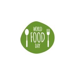 World Food Day Logo Vector Template Design Illustration