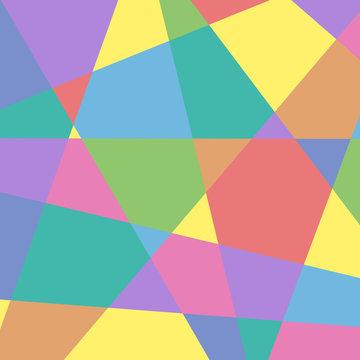 カラフルな幾何学模様背景・BG 正方形・スクエア ベクター素材