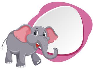A cute elephant template