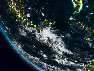 El Salvador at night from space