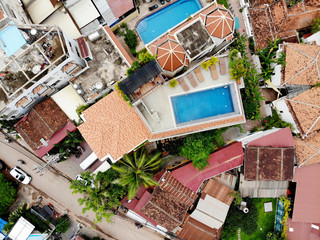 Aerial View of Siem Reap, Cambodia