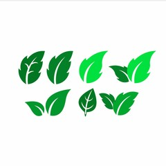 nature set logo design