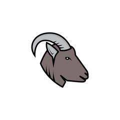 Mountain goat logo template