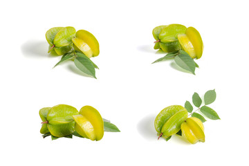 star fruit isolate on white