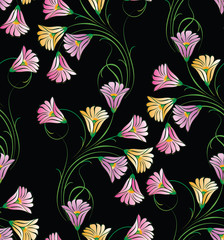 Seamless cute floral pattern