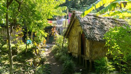 Traditional habitation of Ni-Vanuatu people living simple life in the middle of jungle, Tanna island, Vanuatu
