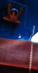 Anker an einem Schiffsbug