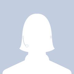 avatar head profile silhouette call center female picture