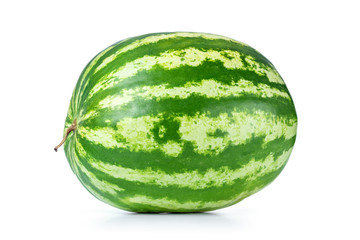 Big watermelon isolated on white background. File contains a path to isolation.