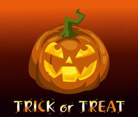 Festive Halloween background. Trick or treat