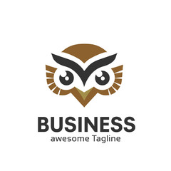 Owl logo vector in modern colorful logo design, Owl icon vector isolated on white background