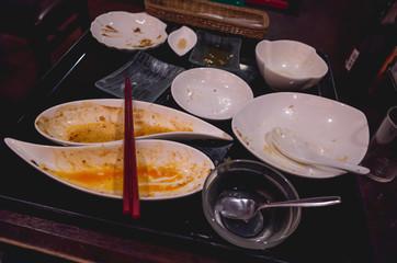 中華料理屋でランチ