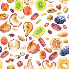 Dry fruit pattern