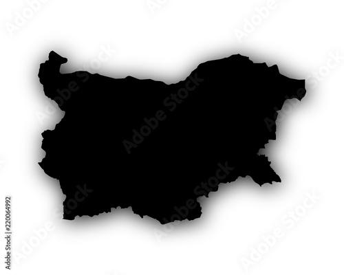 Karte Bulgarien.Karte Von Bulgarien Mit Schatten Stock Image And Royalty