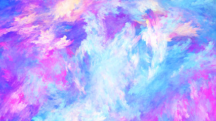 Abstract colorful painted texture. Fractal background. Fantasy digital art. 3D rendering.