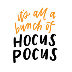 Door stickers Halloween It's all a bunch of hocus pocus