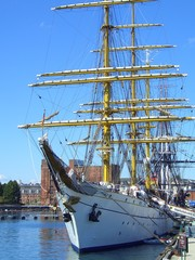 Gorch Fock in Boston Harbor, Boston, Massachusetts, New England, USA
