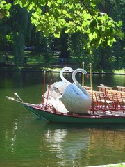 Boat in the Public Garden in Boston, Massachusetts, New England, USA