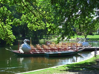 Boat in the Public Garden in Boston, Massachusetts, New England