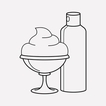 Whipped cream icon line element. Vector illustration of whipped cream icon line isolated on clean background for your web mobile app logo design.