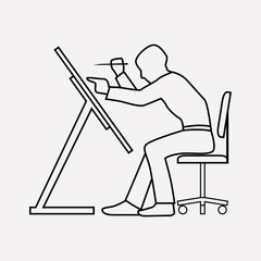 Architect icon line element. Vector illustration of architect icon line isolated on clean background for your web mobile app logo design.