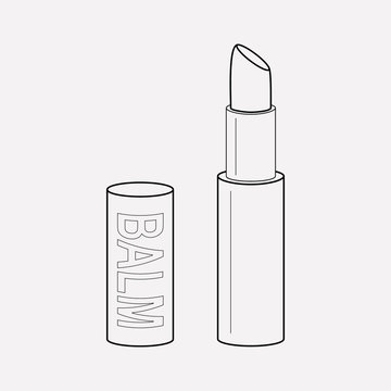 Lip balm icon line element. Vector illustration of lip balm icon line isolated on clean background for your web mobile app logo design.