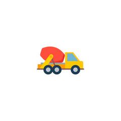 Concrete mixer icon flat element. Vector illustration of concrete mixer icon flat isolated on clean background for your web mobile app logo design.