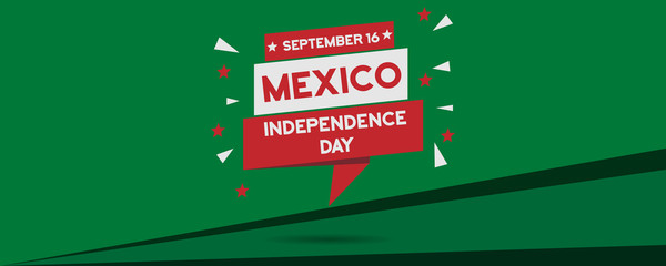 Mexico Independence Day national celebration panorama banner