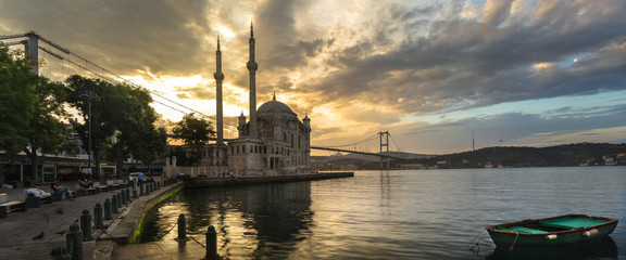Ortaköy square and Istanbul Bosphorus bridge