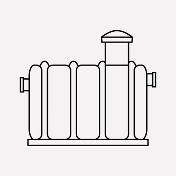 Septic tank icon line element. Vector illustration of septic tank icon line isolated on clean background for your web mobile app logo design.