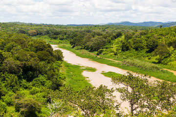 The Nzimane river in the Hluhluwe-imfolozi park, KZN, South Africa.