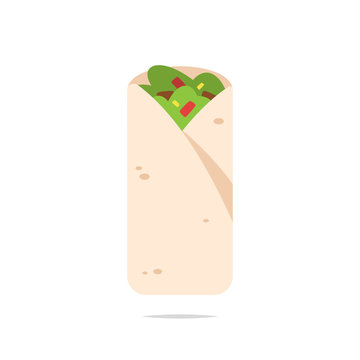 Burrito vector isolated illustration