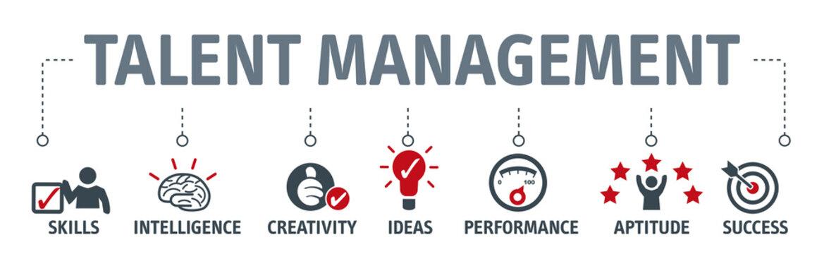Banner talent management concept