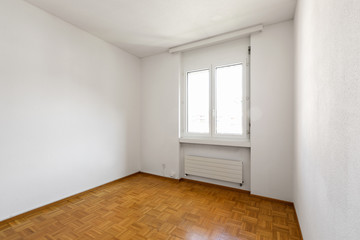 Bright empty room and nice parquet