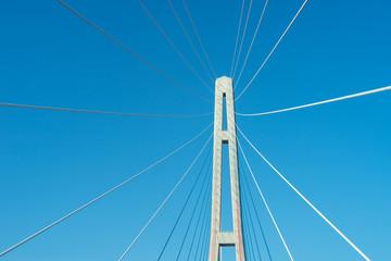 Fragment of a cable stayed bridge Golden Bridge .
