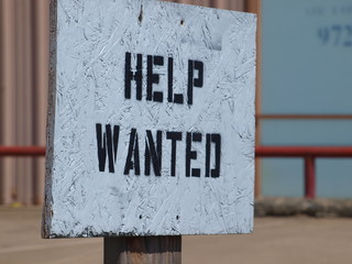 Stenciled Help Wanted Sign Gets Job Done