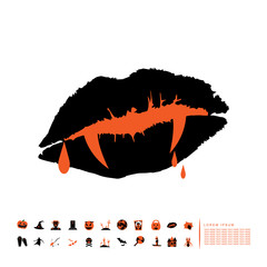 vampire fang icon flat design