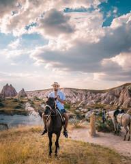 Cappadocia Turkey Goreme  horse riding Cappadocia
