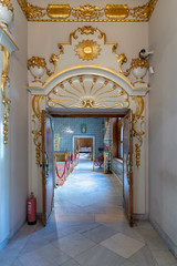 Historic Manial palace of Prince Mohammed Ali Tawfik. Entrance of the second floor of residence of prince's mother (Open for public visit), Cairo, Egypt
