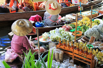 Traditional Floating Market, Bangkok, Thailand