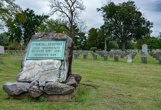 Stonewall Cemetery in Mt Hebron in Winchester VA
