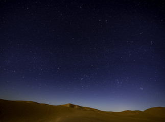 Starry night in Sahara Desert